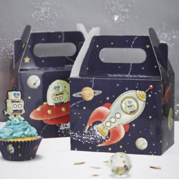 Space Adventure Party Food Boxes - pack of 5